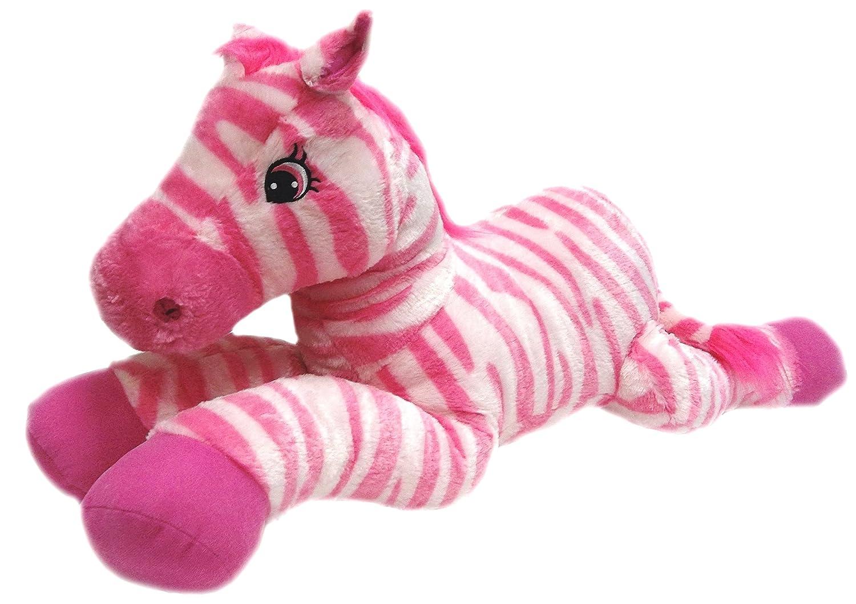 bab011a89d Amazon.com  Goffa Jumbo Pink Zebra Plush