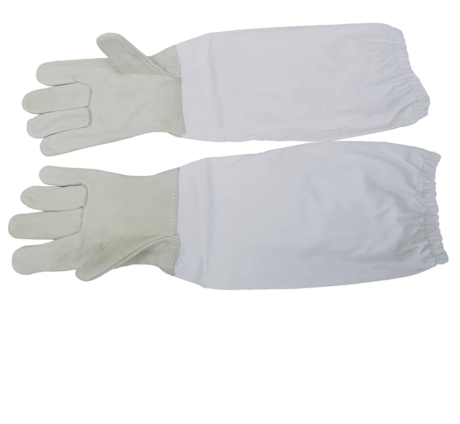 Large (L) Beekeeping Gloves, Leather Bee Keeping with sleeves by VIVO (BEE-V103L)