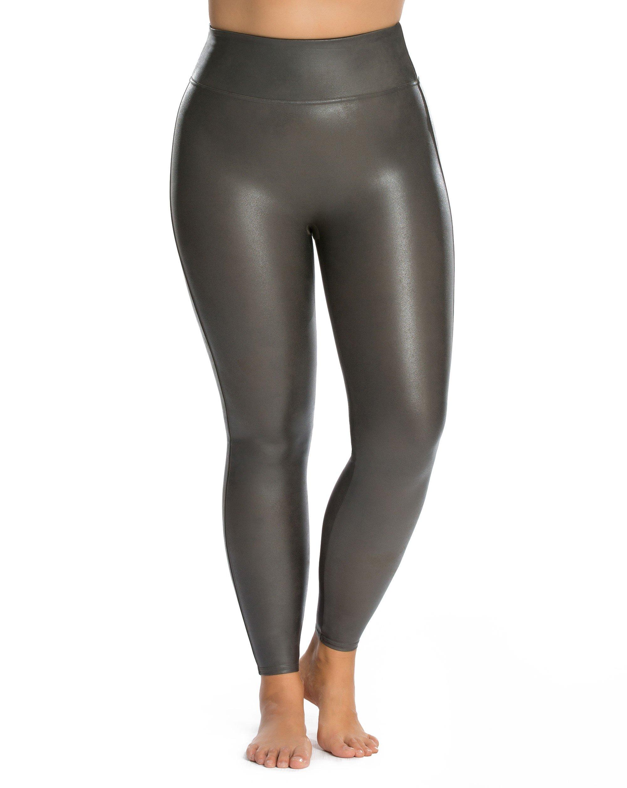 SPANX Plus Size Ready-to-Wow Faux Leather Leggings, 1X, Gunmetal