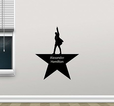 Alexander hamilton wall decal american office print home living room kids baby bedroom vinyl sticker lettering