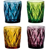 ba283f9592a Artland High Gate 12 oz Colors Double Old Fashion Glass in a Gift Box (Set