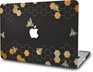 """KECC Laptop Case for MacBook Pro 13"""" (2020/2019/2018/2017/2016) Plastic Hard Shell Cover A2289/A2251/A2159/A1989/A1706/A1708 Touch Bar (Black Bees)"""