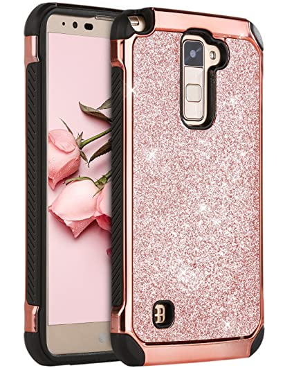online store 5777e b3611 LG Stylo 2 Case, LG Stylus 2 Plus Case, LG Stylo 2 V Case, BENTOBEN Glitter  Slim Hard Cover Hybrid Soft Bumper Shockproof Protective Phone Case for LG  ...