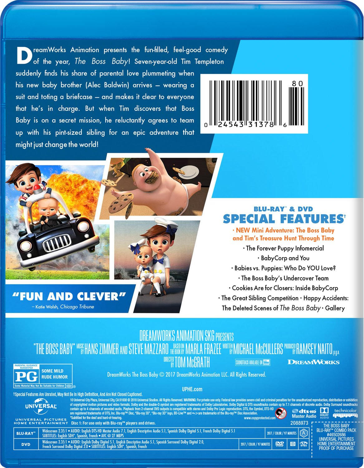 6a7e0a4cf Amazon.com: The Boss Baby [Blu-ray]: Alec Baldwin, Steve Buscemi, Jimmy  Kimmel, Lisa Kudrow, Miles Bakshi, Tobey Maguire, Tom McGrath, Ramsey  Naito, ...