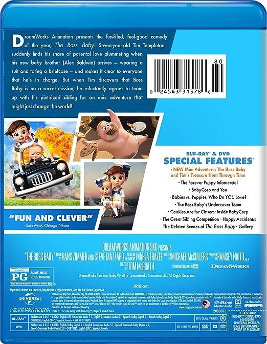 Amazon Com The Boss Baby Blu Ray Alec Baldwin Steve Buscemi Jimmy Kimmel Lisa Kudrow Miles Bakshi Tobey Maguire Tom Mcgrath Ramsey Naito Michael Mccullers Movies Tv