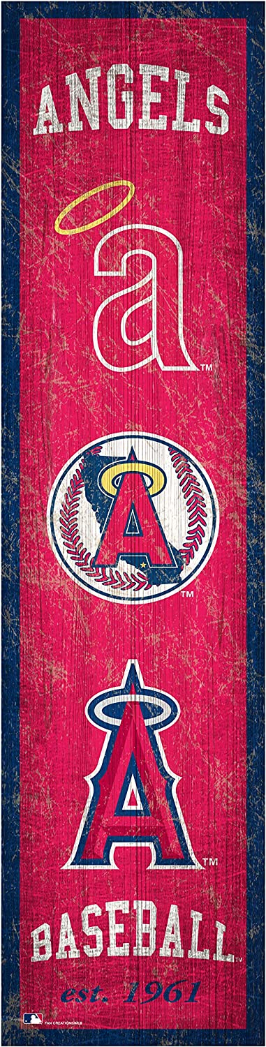 Fan Creations MLB Los Angeles Angels Unisex Los Angeles Angels Heritage Banner 6x24 Sign 6 x 24 Team