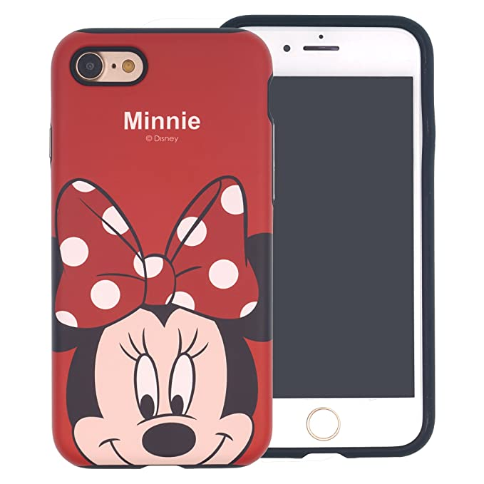 official photos 3d1f0 b9a85 iPhone SE/iPhone 5S / iPhone 5 Case, Disney Cute Minnie Mouse Layered  Hybrid [TPU + PC] Bumper Cover [Shock Absorption] for Apple iPhone SE / 5S  / 5 - ...