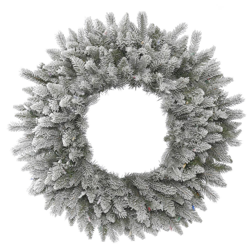 Vickerman Unlit Frosted Sable Pine Artificial Wreath, 30''