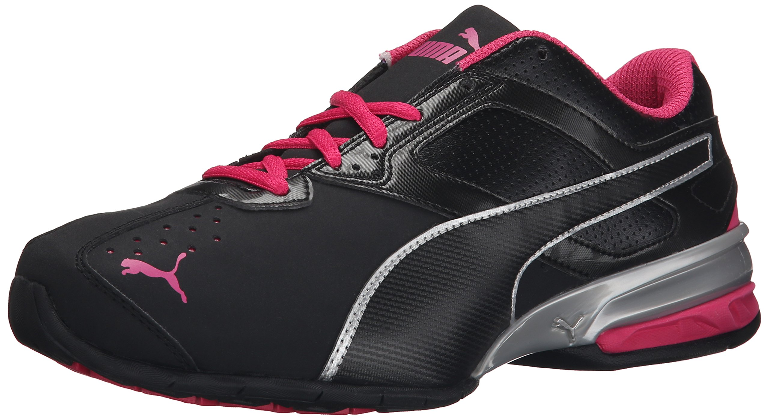PUMA Women's Tazon 6 Wide Women's Training Shoe, Black/Puma Silver/Beetroot Purple, 6.5 B US