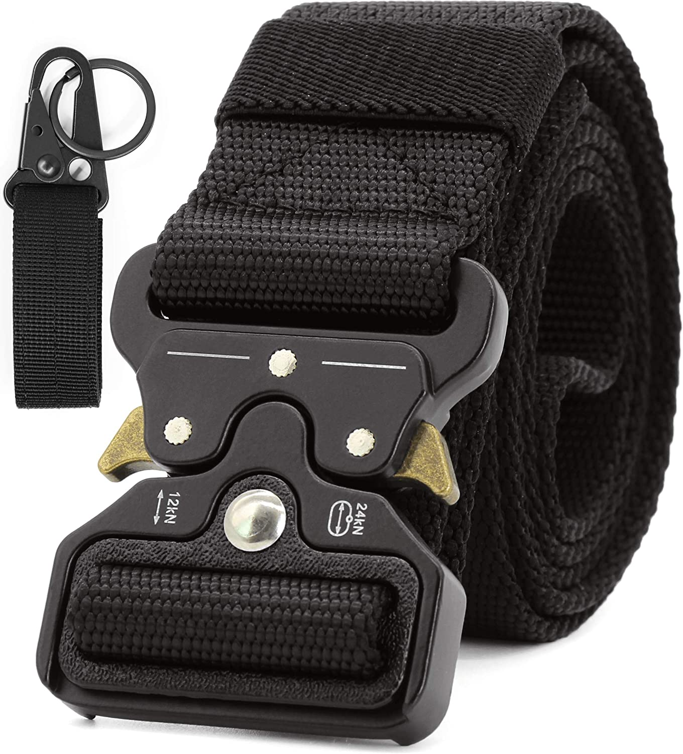 1 PLY 1.5 Nylon Heavy Duty Everyday Belt CHESSUN Mens Tactical Belt Heavy Duty with Quick Release Metal Buckle
