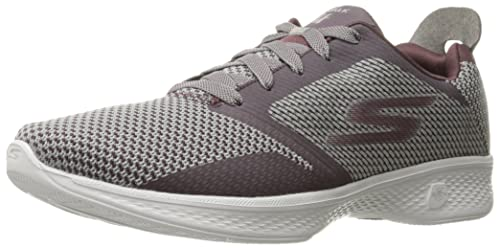 Skechers Damen Sneaker GO Walk 4 Fascinate Burgund