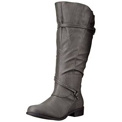 Brinley Co Women's Olive-Xwc Riding Boot | Knee-High