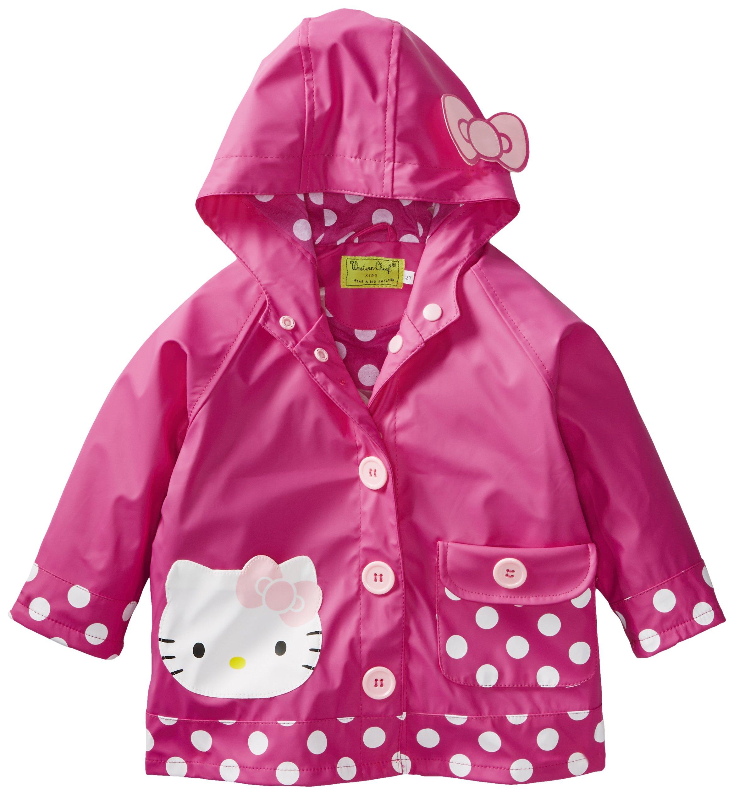 Western Chief Girls Hello Kitty Lined Rain Jacket, Hello Kitty Cutie Dot, 4T by Western Chief