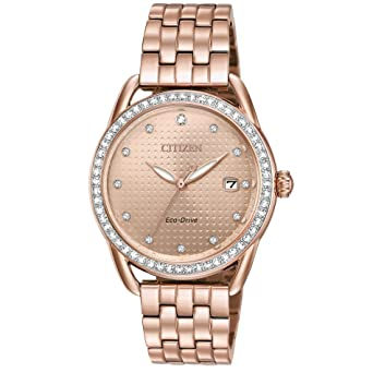 Citizen Watches Womens FE6113-57X Eco-Drive Rose Gold One Size