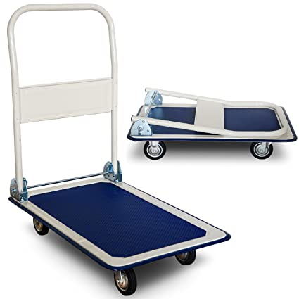 Carro transporte mercancías, hasta 150 kg con ruedas de goma