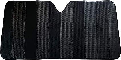 Pilot Automotive SWR-0208 Pilot Premium Black Diamond Stitch Accordion Sunshade Featuring a Swarovski Crystal