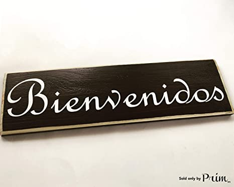 Amazon.com: Bienvenidos Español Bienvenida 14 x 4 (elegir ...