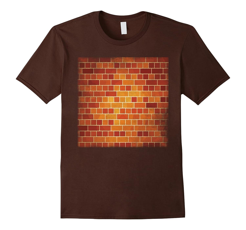 Brick Wall Shirt Construction Masonry Building Graphic Tee-FL