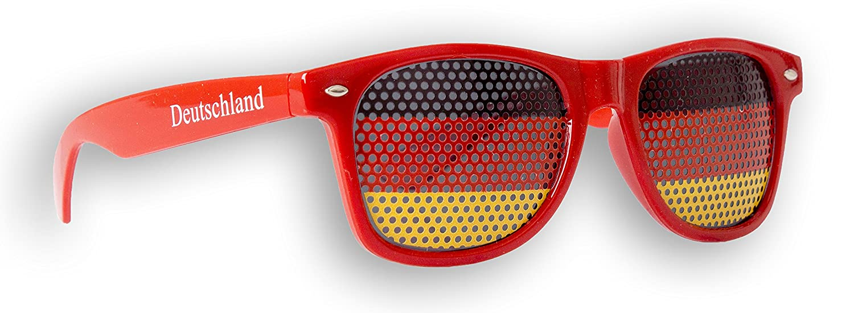 1 x Fanbrille Deutschland - Rot – Sonnenbrille – Brille Germany – Schwarz Rot Gold - Fan Artikel (1) Promo Trade