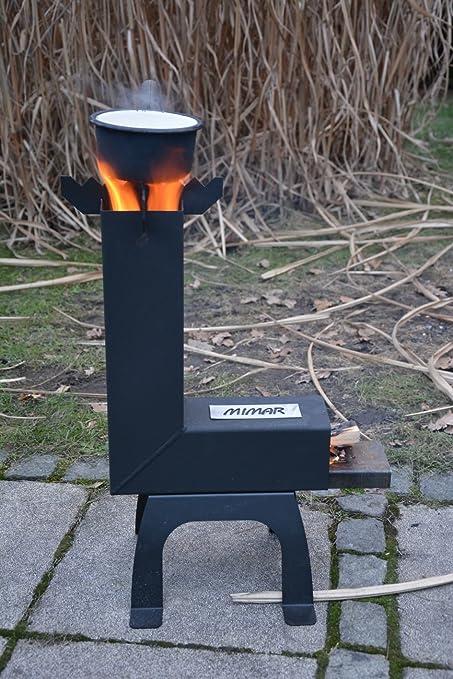 Rocket Stove - Horno de 100 mm para estufa de leña Cohete de ...