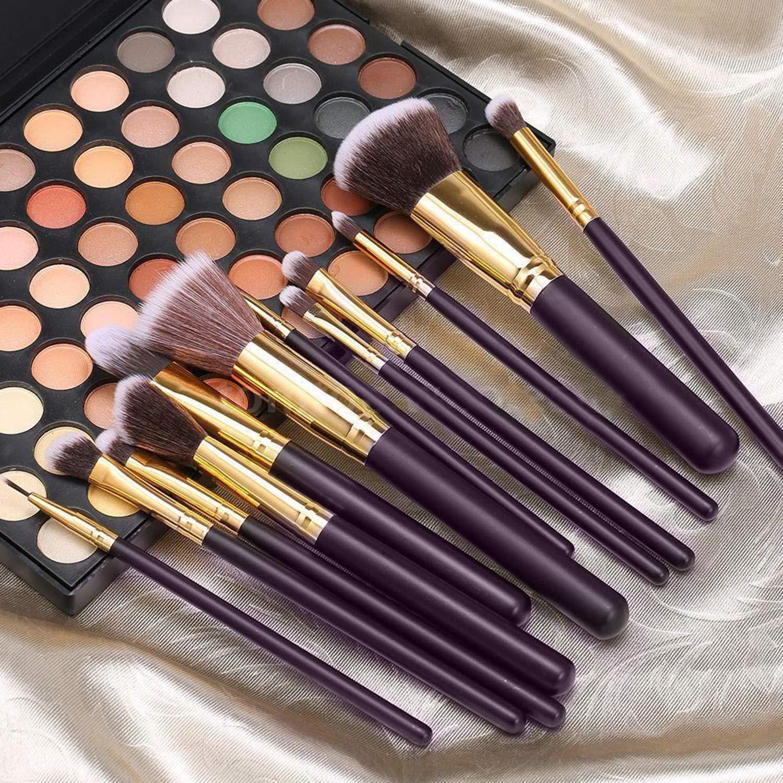 Xixou 12Pcs Makeup Brushes Premium Makeup Brush Set Synthetic Kabuki Cosmetics Foundation Blending Blush Eyeliner Face Powder Brush Makeup Brush Kit