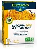 Curcuma 2000 Bio et Poivre Noir Diétaroma - 60 Comprimés