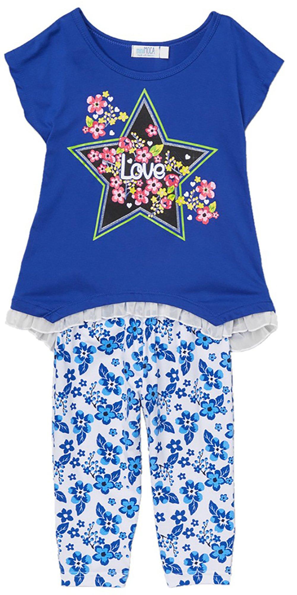 ToBeInStyle Girl's Love Star Girls' Legging Sets - Royal - 4