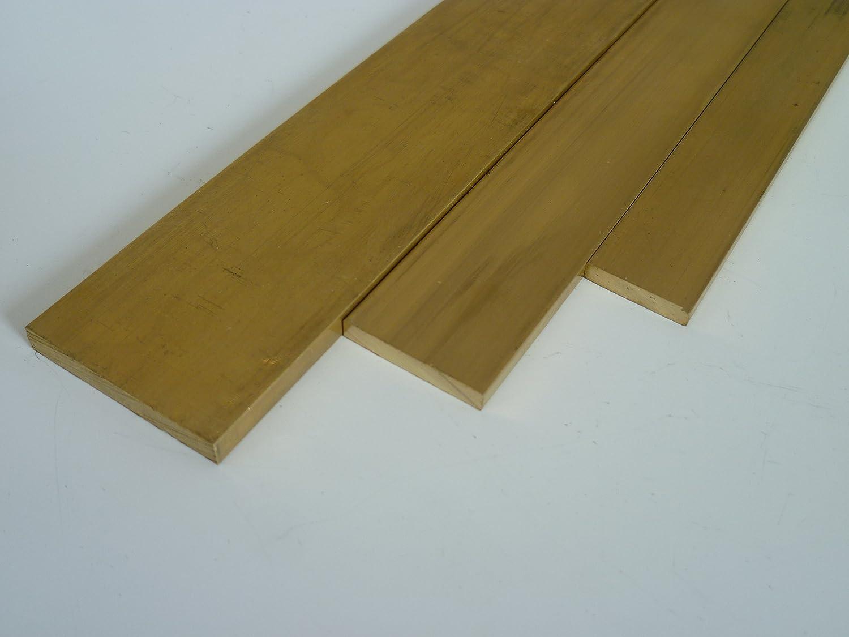massiv Ma/ße HxB: 8 x 50 mm B/&T Metall Messing Flach CuZn39Pb3 | Flachstange L/änge ca 0,5 m MS58