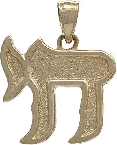 14K Yellow Gold-plated 925 Silver Jewish Chai Pendant with 18 Necklace Jewels Obsession Chais Necklace