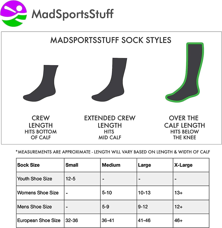 MadSportsStuff Baseball Stirrup Socks 3 Stripe with Featheredge