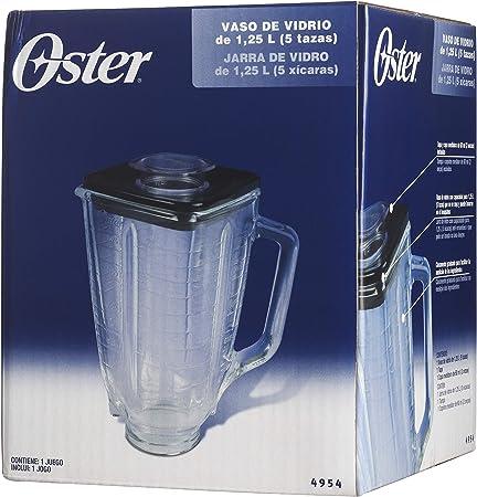 Oster 004954-011090-I - Jarra de vidrio cuadrada 5 tazas (1.25 l ...