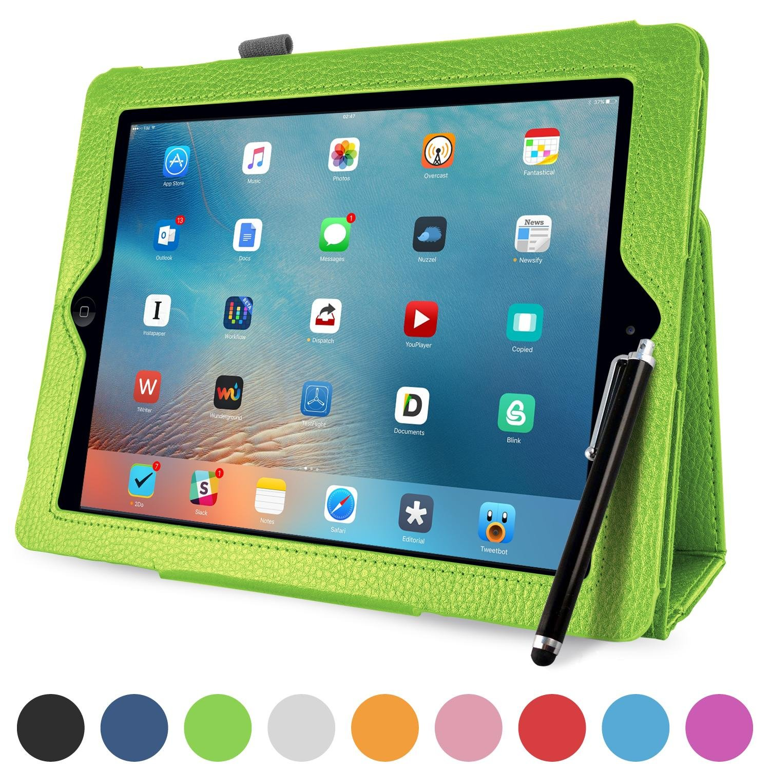 Mobility Ipad Folio Tablet Case - Pu Leather Protective Folding Magnetic Smar.. 14