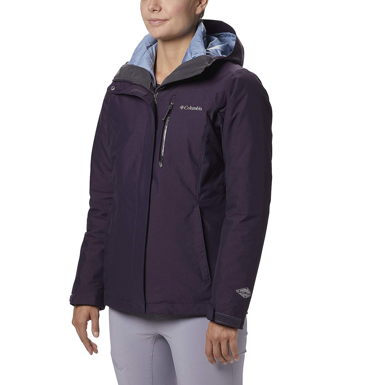 Dark Plum Crossdye Columbia Women's Whirlibird Interchange Jacket, Waterproof and Breathable