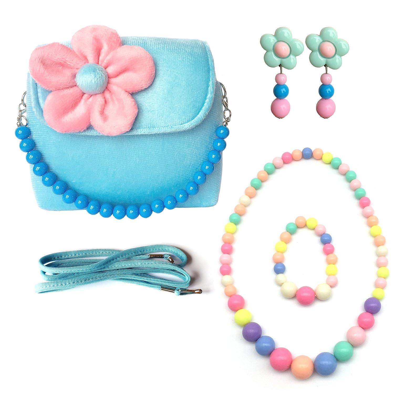 Amazon.com: Elesa Miracle Little Girl Bag Beauty Set Plush Handbag + ...