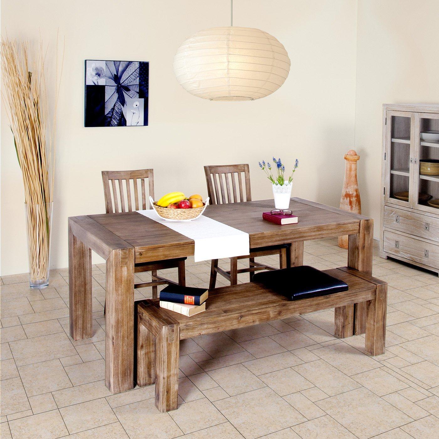 Esstisch Wohnzimmertisch Tisch Massivholz 200x100 Cm Massivholztisch Amazonde Kche Haushalt