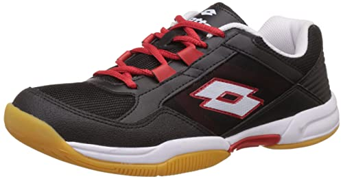 Lotto Men's Black and Red Running Shoes