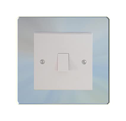 Double Light Switch Support Frame Square Chrome Single Surround