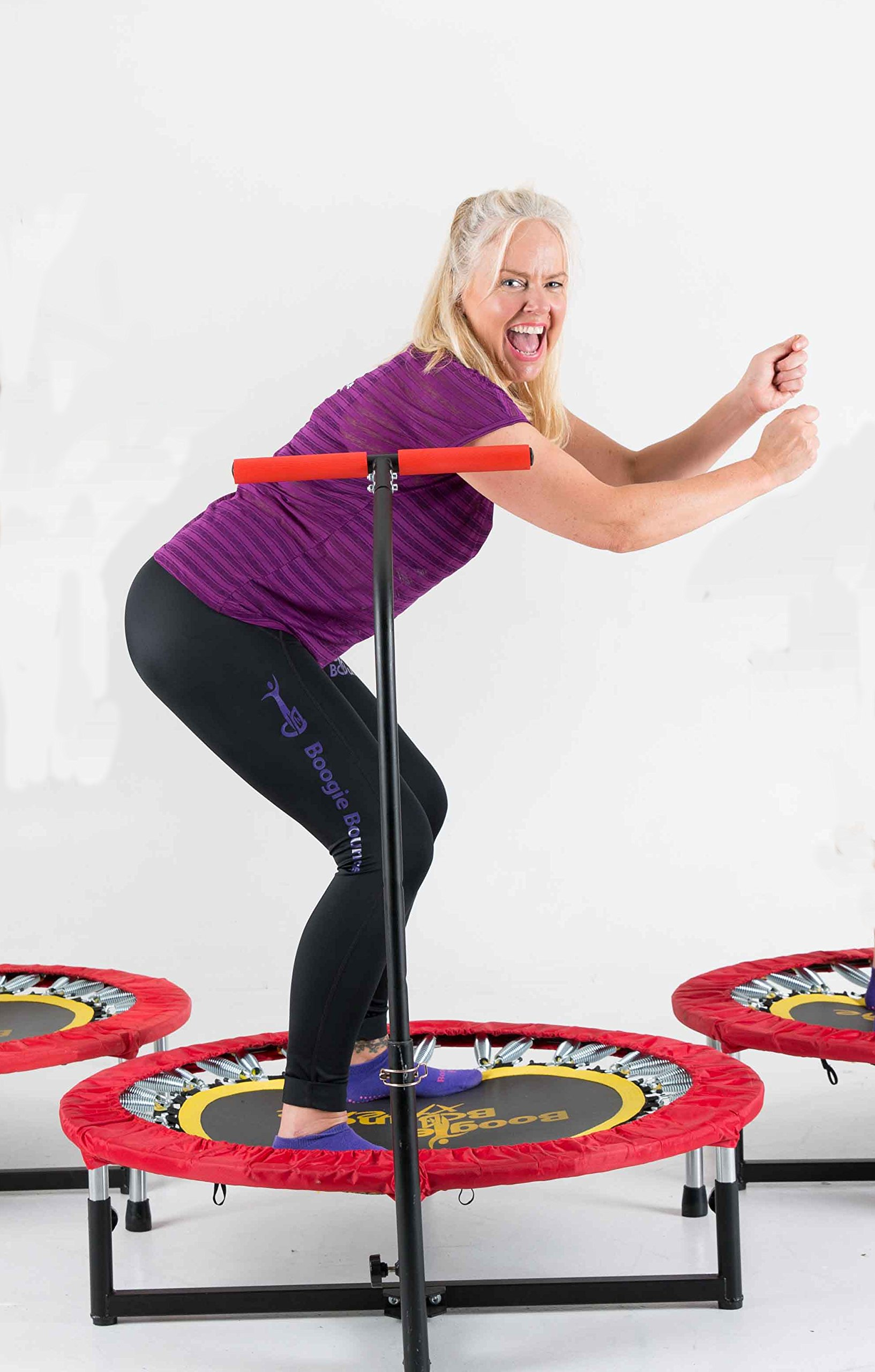 Fitness Trampoline with T-bar Handle by Boogie Bounce (Image #5)