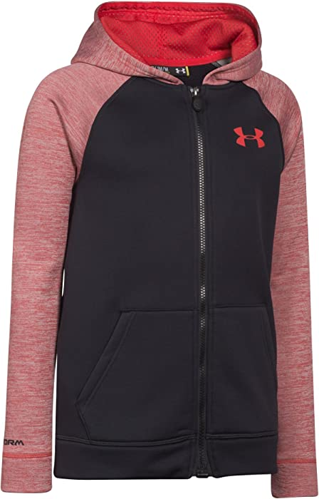 af29fc831566 Under Armour Boys  Armour Fleece Storm Mag Zip Hoody Black   Risk Red XS