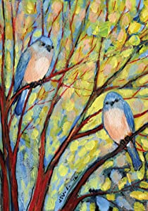 Toland Home Garden Birdwatch 12.5 x 18 Inch Decorative Colorful Multicolor Spring Summer Tree Garden Flag