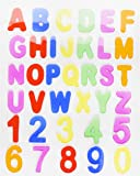 ABC's & 123's Gel Clings - 36 Piece Window Gel Clings Toy - Numbers and Alphabet Letters - Great for Travel on Planes, Birthday Parties, Cars or at Home
