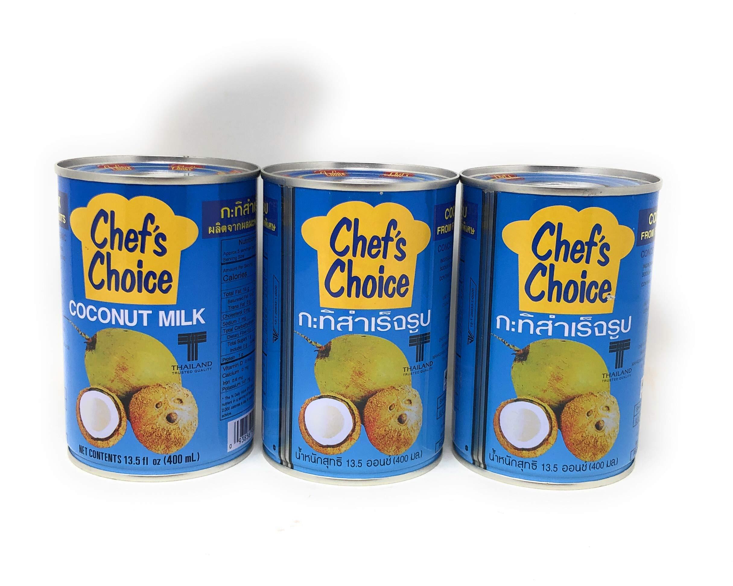 Chefs Choice Coconut Milk 13.5 oz (400ml) 3 pack