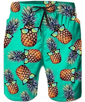 Bright Summer New Men 3d Pineapple Print Swimwear Shorts Casual Summer Beach Pants Board Shorts Short Pants Men's Clothing