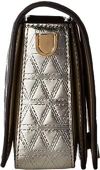 6e57147441d2 MICHAEL Michael Kors Jade Medium Gusset Clutch with crodd body chain,  Champaign