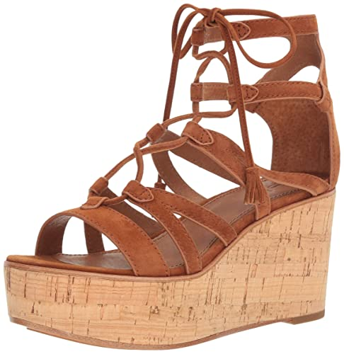 f33c6c93044 FRYE Women's Heather Gladiator Wedge Sandal