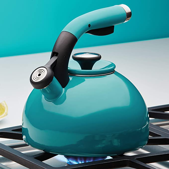 Circulon 2-Quart Morning Bird Teakettle, Capri Turquoise