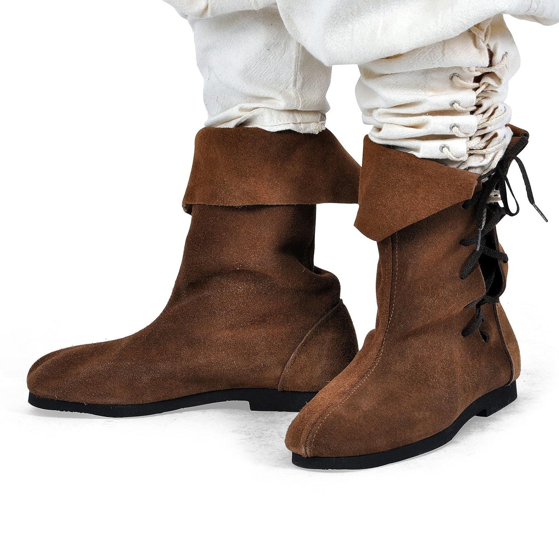 Les Hommes Du Moyen Age Elbenwald Chaussures En Daim Marron - 38 boutique pour vendre lSY1pSJoCu