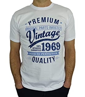 40646baf6 1969 Vintage Year - Aged To Perfection - 50th Birthday Gift / Present Mens T -