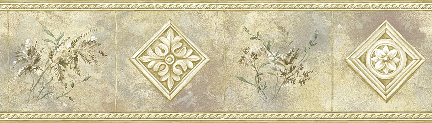 Brewster 72857B Borders and More Plants & Ironwork Wall Border, 6-Inch by 180-Inch