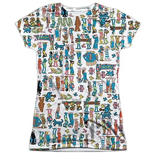 Amazon.com  Trevco Waldo Figures Women s Sublimated T Shirt  Clothing 8230284581